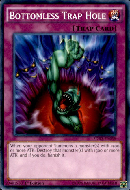 YuGiOh HERO Strike Structure Deck Common Bottomless Trap Hole SDHS-EN038