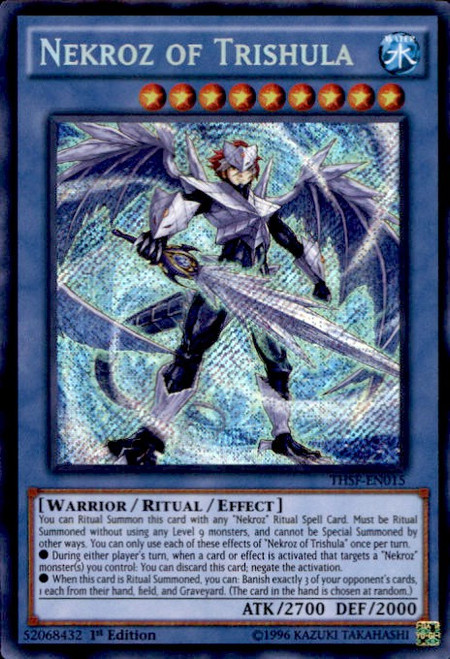 YuGiOh The Secret Forces Secret Rare Nekroz of Trishula THSF-EN015