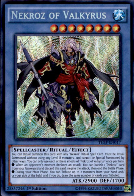 YuGiOh The Secret Forces Secret Rare Nekroz of Valkyrus THSF-EN017