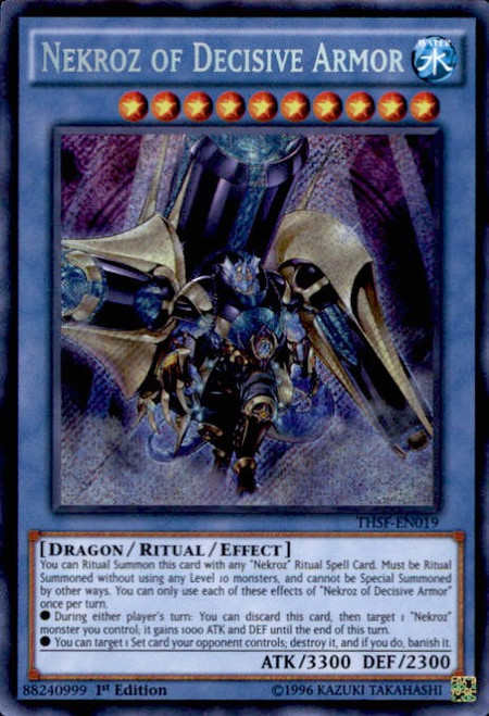 YuGiOh The Secret Forces Secret Rare Nekroz of Decisive Armor THSF-EN019