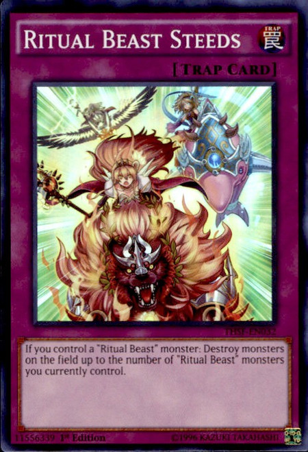 YuGiOh The Secret Forces Super Rare Ritual Beast Steeds THSF-EN032