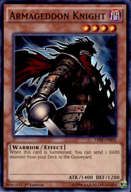 YuGiOh The Secret Forces Super Rare Armageddon Knight THSF-EN035