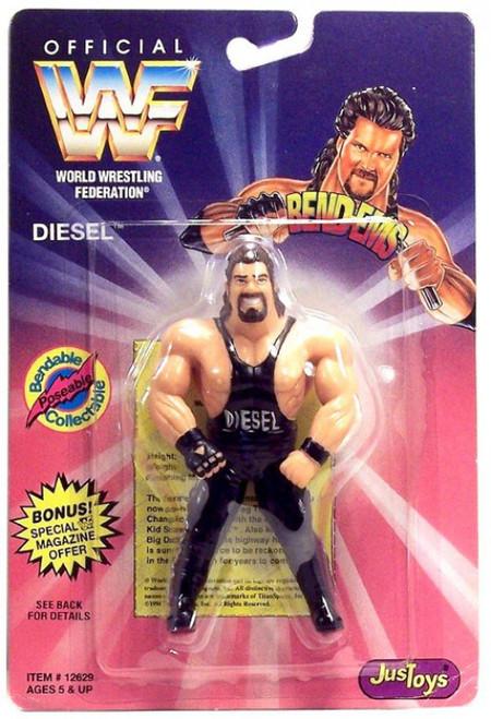 WWE Wrestling WWF Bend-Ems Series 1 Diesel Rubber Figure
