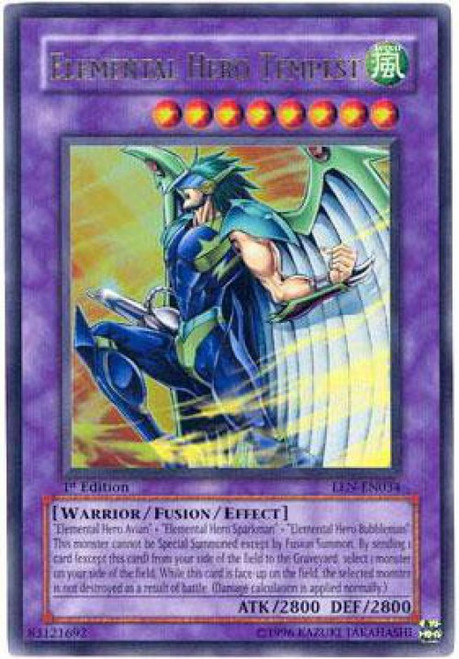 YuGiOh Elemental Energy Ultra Rare Elemental Hero Tempest EEN-EN034