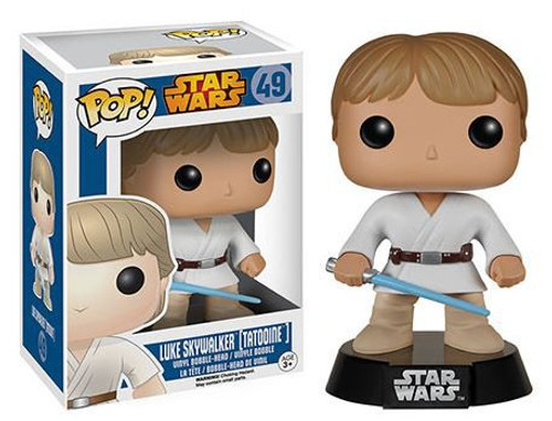 Funko A New Hope POP! Star Wars Luke Skywalker (Tatooine) Vinyl Bobble Head #49