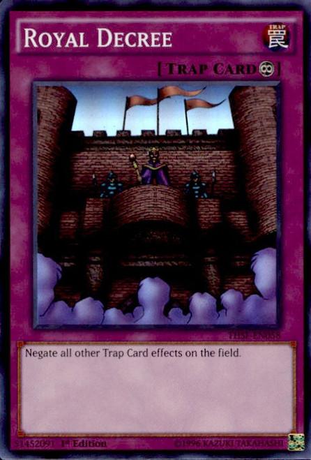 YuGiOh The Secret Forces Super Rare Royal Decree THSF-EN058