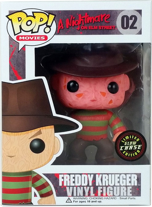 Funko Nightmare on Elm Street POP! Movies Freddy Krueger Vinyl Figure #02 [Glow in the Dark, Chase Version]
