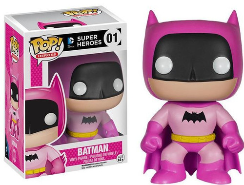 Funko DC Super Heroes POP! Heroes Batman Exclusive Vinyl Figure #01 [75th Anniversary Pink Rainbow]