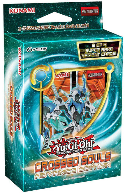 YuGiOh Trading Card Game Crossed Souls Advance Edition [3 Booster Packs & 2 Super Rare Variant Cards]