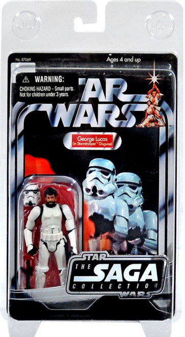 Star Wars Expanded Universe 2006 Vintage Saga Collection George Lucas in Stormtrooper Outfit Exclusive Action Figure