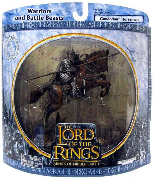 The Lord of the Rings Armies of Middle Earth Warriors and Battle Beast Gondorian Horseman Figure Pack [Jumping]