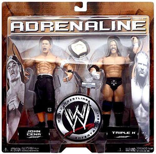WWE Wrestling Adrenaline Series 20 John Cena & Triple H Action Figure 2-Pack