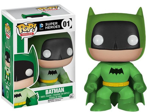 Funko DC Super Heroes POP! Heroes Batman Exclusive Vinyl Figure #01 [75th Anniversary Green Rainbow]