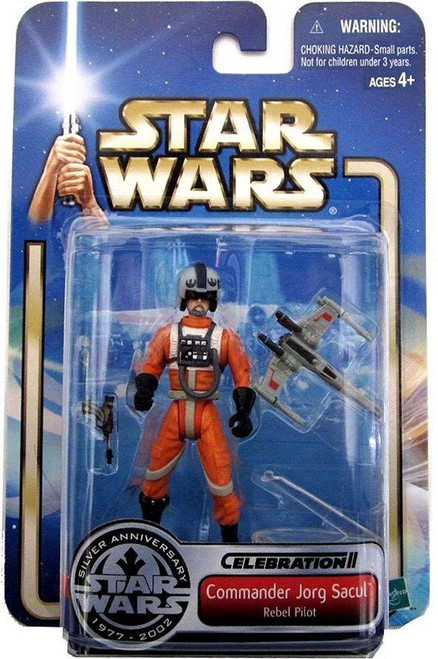 Star Wars The Empire Strikes Back Saga 2002 Commander Jorg Sacul Exclusive Action Figure [Rebel Pilot]
