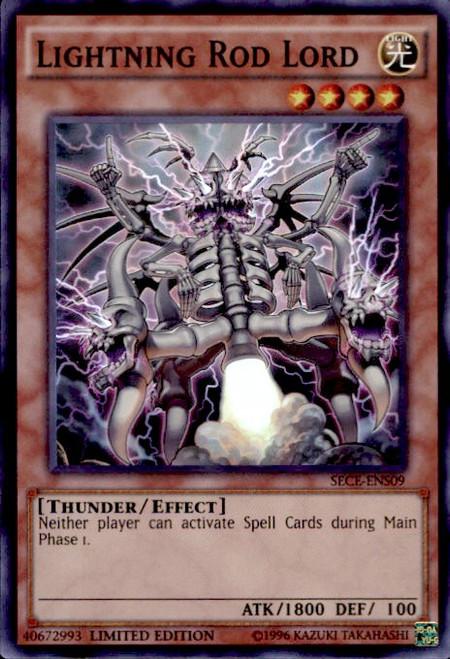 YuGiOh Secrets of Eternity Super Edition Super Rare Lightning Rod Lord SECE-ENS09