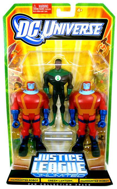 DC Universe Justice League Unlimited Fan Collection Manhunter Robot, Green Lantern & Manhunter Robot Action Figures