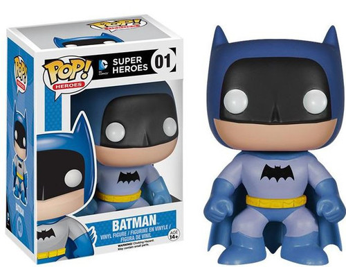 Funko DC Super Heroes POP! Heroes Batman Exclusive Vinyl Figure #01 [75th Anniversary Blue Rainbow]