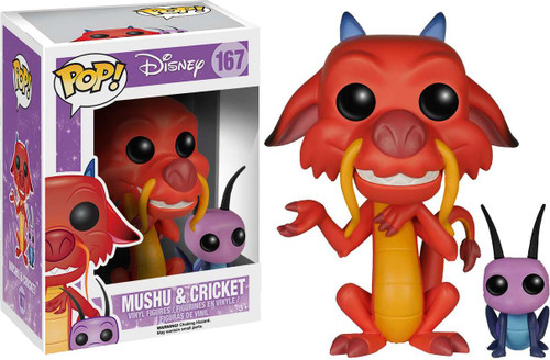 Funko Mulan POP! Disney Mushu & Cricket Vinyl Figure #167