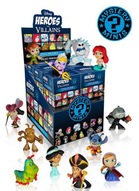 Funko Disney Mystery Minis Heroes vs Villains Mystery Box [12 Packs]