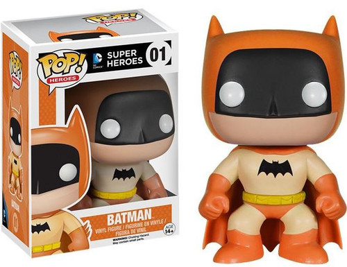 Funko DC Super Heroes POP! Heroes Batman Exclusive Vinyl Figure #01 [75th Anniversary Orange Rainbow]