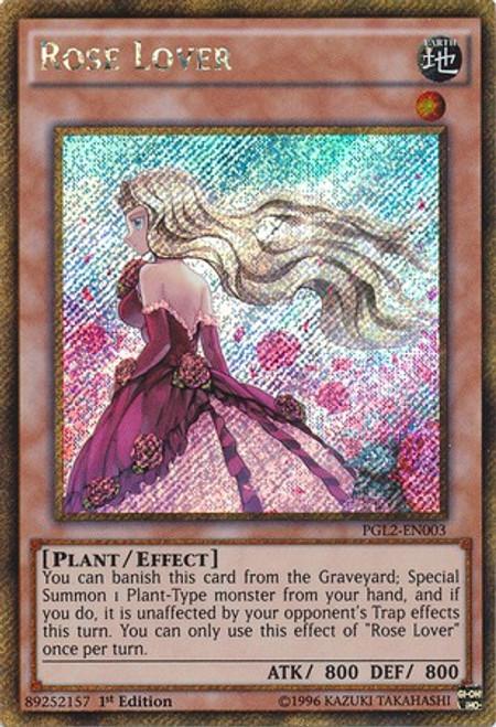 YuGiOh Premium Gold: Return of the Bling Gold Secret Rare Rose Lover PGL2-EN003