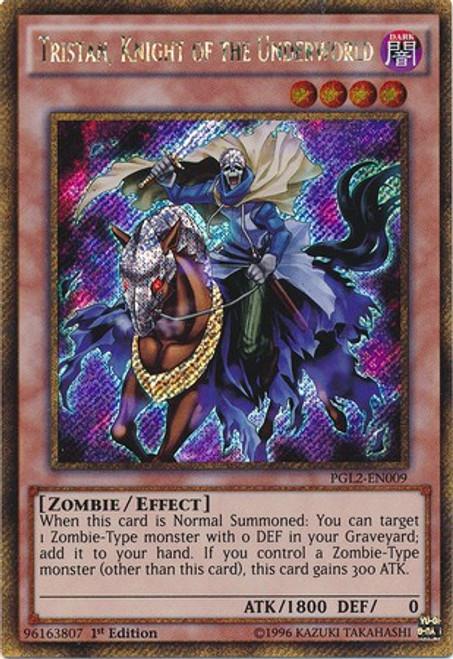 YuGiOh Premium Gold: Return of the Bling Gold Secret Rare Tristan, Knight of the Underworld PGL2-EN009