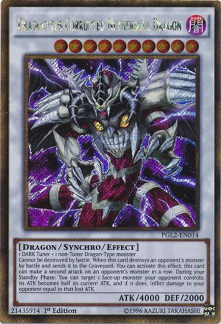 YuGiOh Premium Gold: Return of the Bling Gold Secret Rare Dragocytos Corrupted Nethersoul Dragon PGL2-EN014