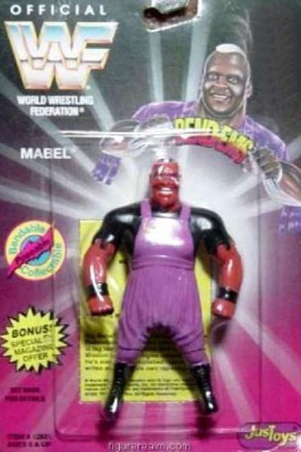 WWE Wrestling WWF Bend-Ems Series 1 Mabel Rubber Figure