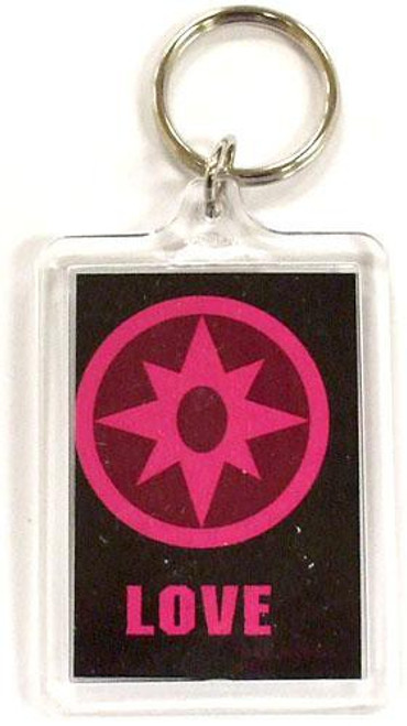 DC Green Lantern Blackest Night Violet Love Keychain