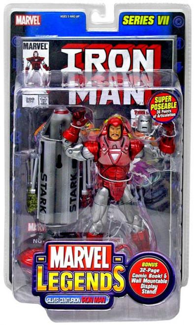 Marvel Legends Series 7 Iron Man Action Figure [Silver Centurion Armor]