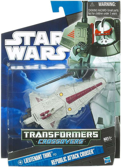 Star Wars The Clone Wars 2010 Transformers Crossovers Commander Thire to Republic Attack Cruiser Action Figure