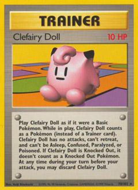 Pokemon Base Set Rare Clefairy Doll #70