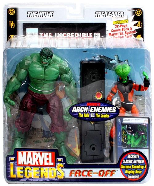 Marvel Legends Face Off Series 1 Hulk vs. Leader Action Figure 2-Pack