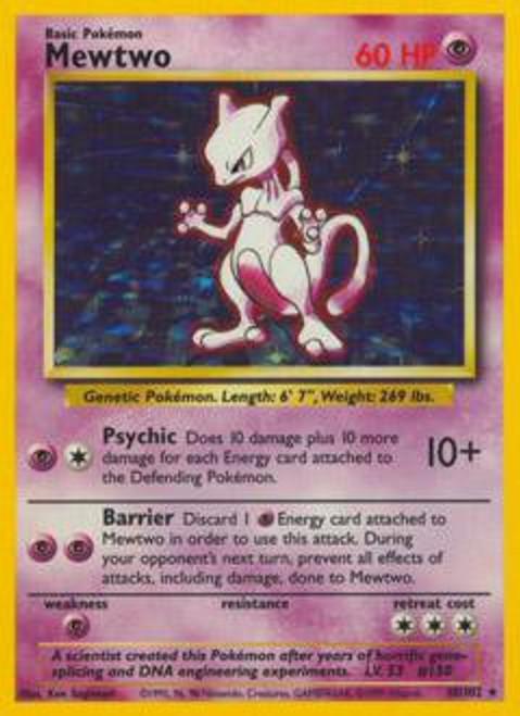 Pokemon Base Set Rare Holo Mewtwo #10
