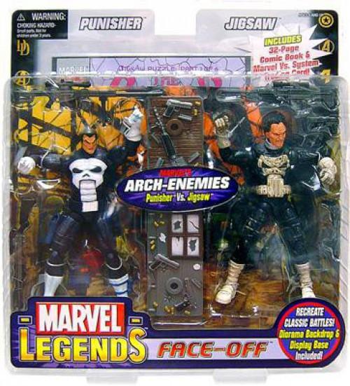 Marvel Legends Face Off Series 2 Punisher vs. Jigsaw Action Figure 2-Pack