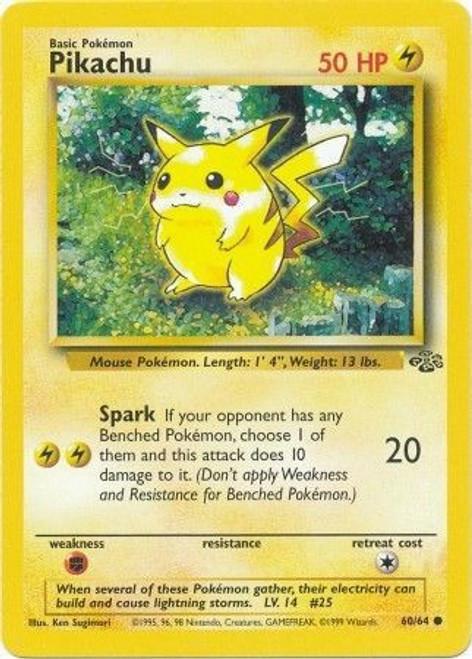 Pokemon Jungle Common Pikachu #60