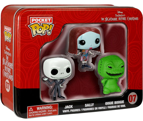 Funko Nightmare Before Christmas Pocket POP! Movies Jack, Sally, Oogie Vinyl Mini Figure Tin 3-Pack #07