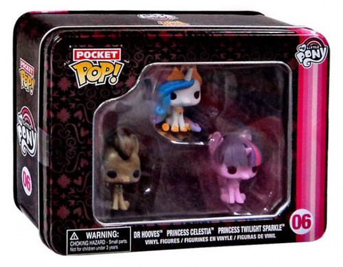 Funko Pocket POP! My Little Pony Dr. Hooves, Princess Celestia & Princess Twilight Sparkle Vinyl Mini Figure Tin 3-Pack