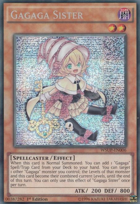 YuGiOh World Superstars Prismatic Secret Rare Gagaga Sister WSUP-EN006