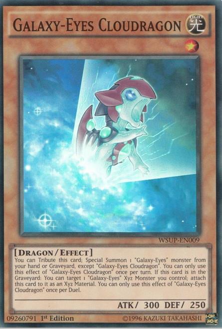 YuGiOh World Superstars Super Rare Galaxy-Eyes Cloudragon WSUP-EN009