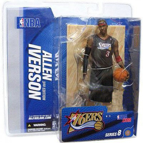 McFarlane Toys NBA Philadelphia 76ers Sports Picks Series 8 Allen Iverson Action Figure [Black Jersey Variant]