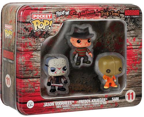Funko Pocket POP! Horror Freddy, Jason, Sam Vinyl Mini Figure Tin 3-Pack #11