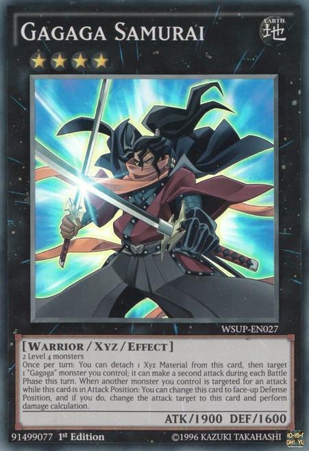 YuGiOh World Superstars Super Rare Gagaga Samurai WSUP-EN027