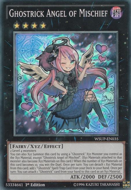 YuGiOh World Superstars Super Rare Ghostrick Angel of Mischief WSUP-EN035