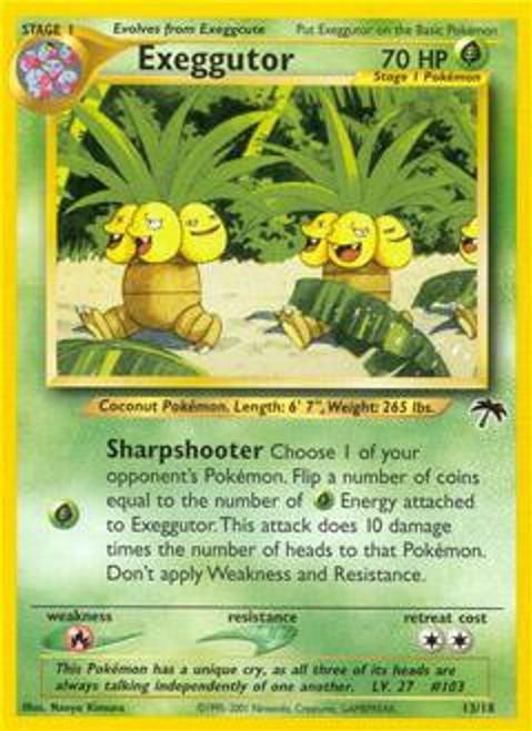 Pokemon Southern Islands Common Exeggutor #13