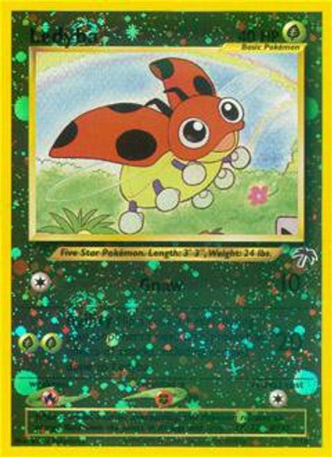 Pokemon Southern Islands Rare Reverse Holo Ledyba #7