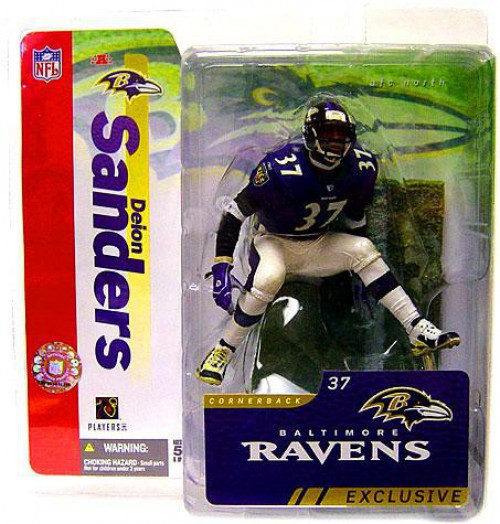 McFarlane Toys NFL Baltimore Ravens Sports Picks Collectors Club Deion Sanders Exclusive Action Figure [Ravens, Purple Jersey & White Pants]