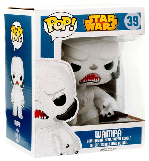 Funko The Empire Strikes Back POP! Star Wars Wampa Exclusive 6-Inch Vinyl Bobble Head #39 [Super-Sized. Flocked]
