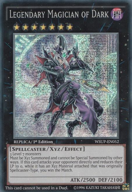 YuGiOh World Superstars Prismatic Secret Rare Legendary Magician of Dark WSUP-EN052