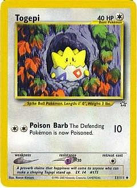 Pokemon Neo Genesis Uncommon Togepi #51